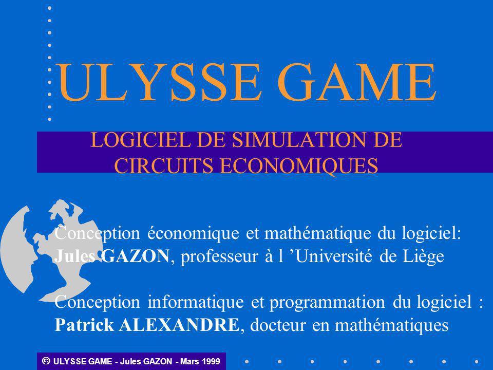 LOGICIEL DE SIMULATION DE CIRCUITS ECONOMIQUES