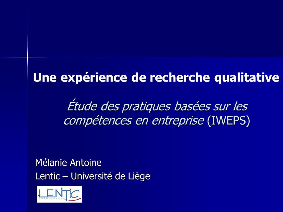 Étude des pratiques basées sur les compétences en entreprise (IWEPS)