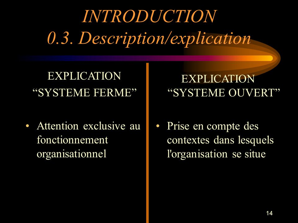 INTRODUCTION 0.3. Description/explication