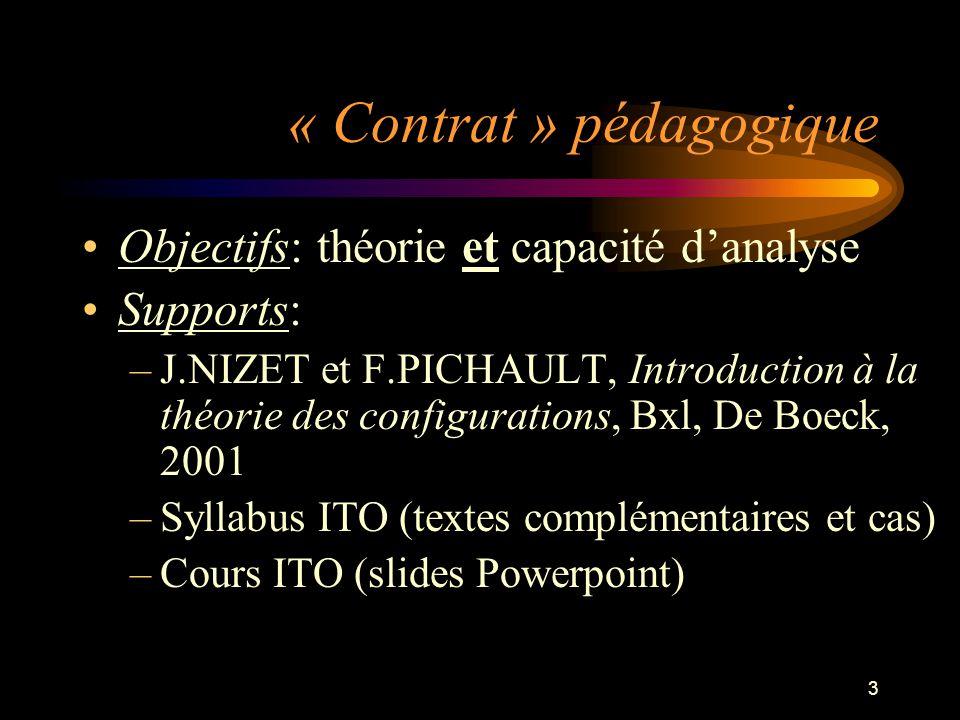 « Contrat » pédagogique