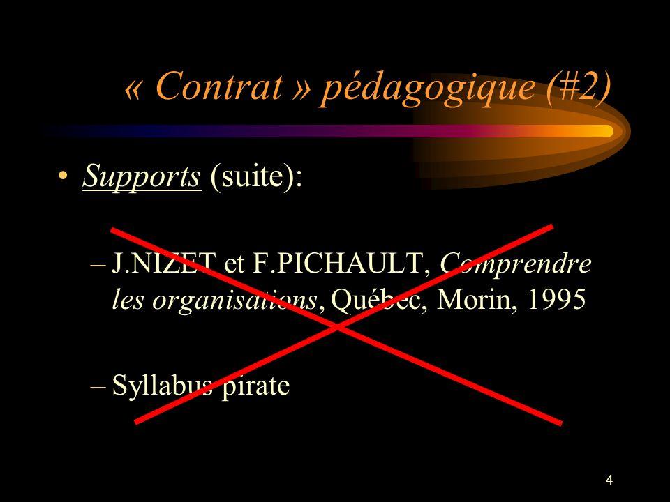 « Contrat » pédagogique (#2)