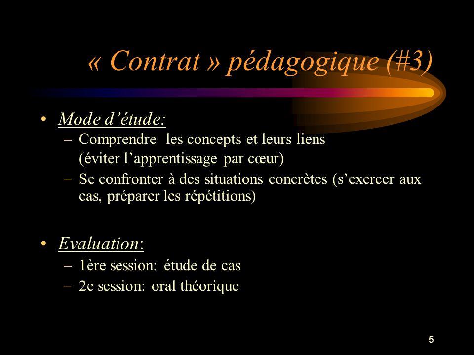 « Contrat » pédagogique (#3)