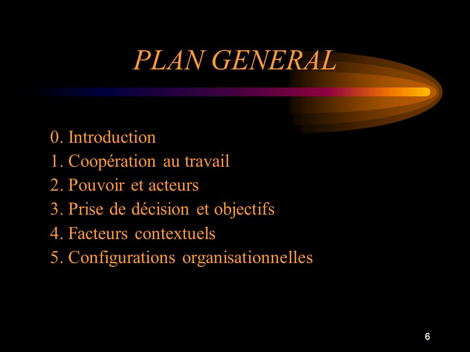 PLAN GENERAL 0. Introduction 1. Coopération au travail