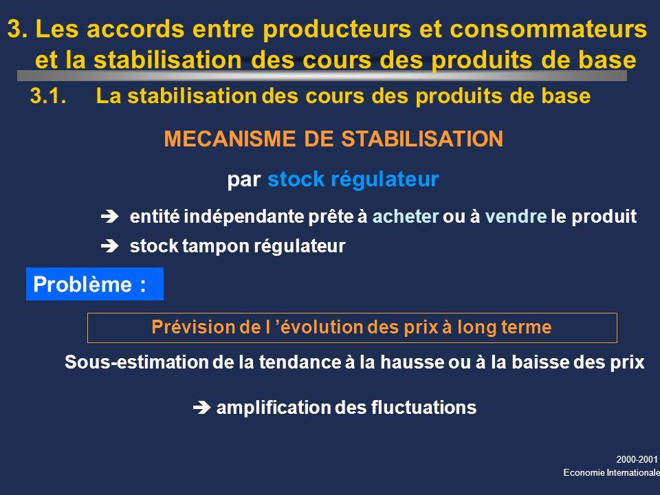 3. Les accords entre producteurs et consommateurs et la stabilisation des cours des produits de base