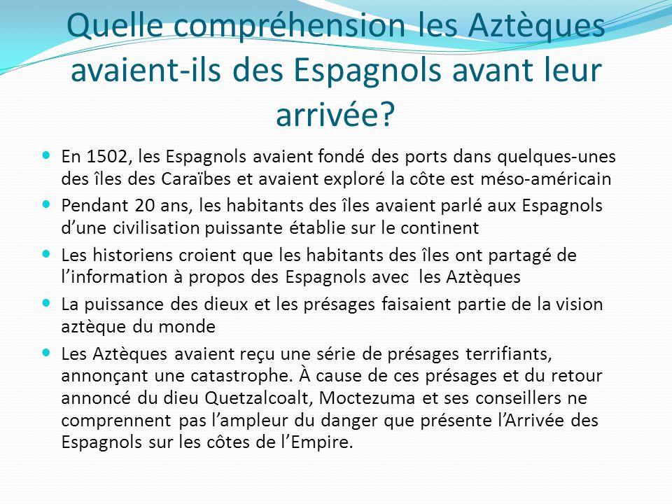 Quelle compréhension les Aztèques avaient-ils des Espagnols avant leur arrivée