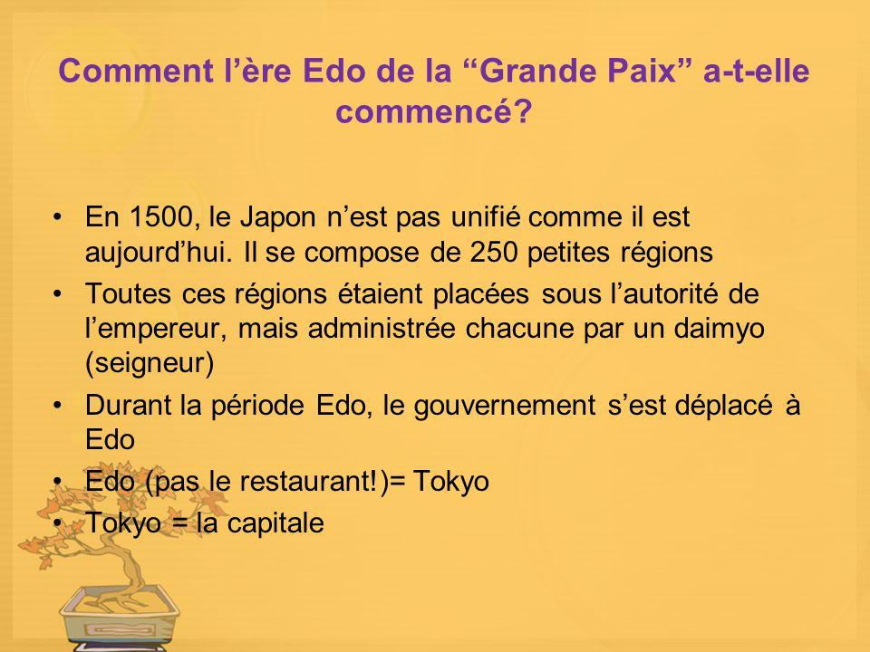Comment l'ère Edo de la Grande Paix a-t-elle commencé