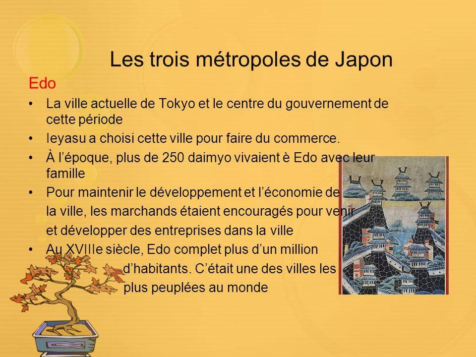 Les trois métropoles de Japon