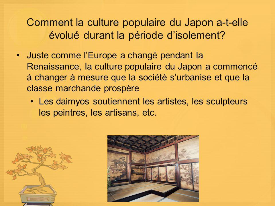 Comment la culture populaire du Japon a-t-elle évolué durant la période d'isolement