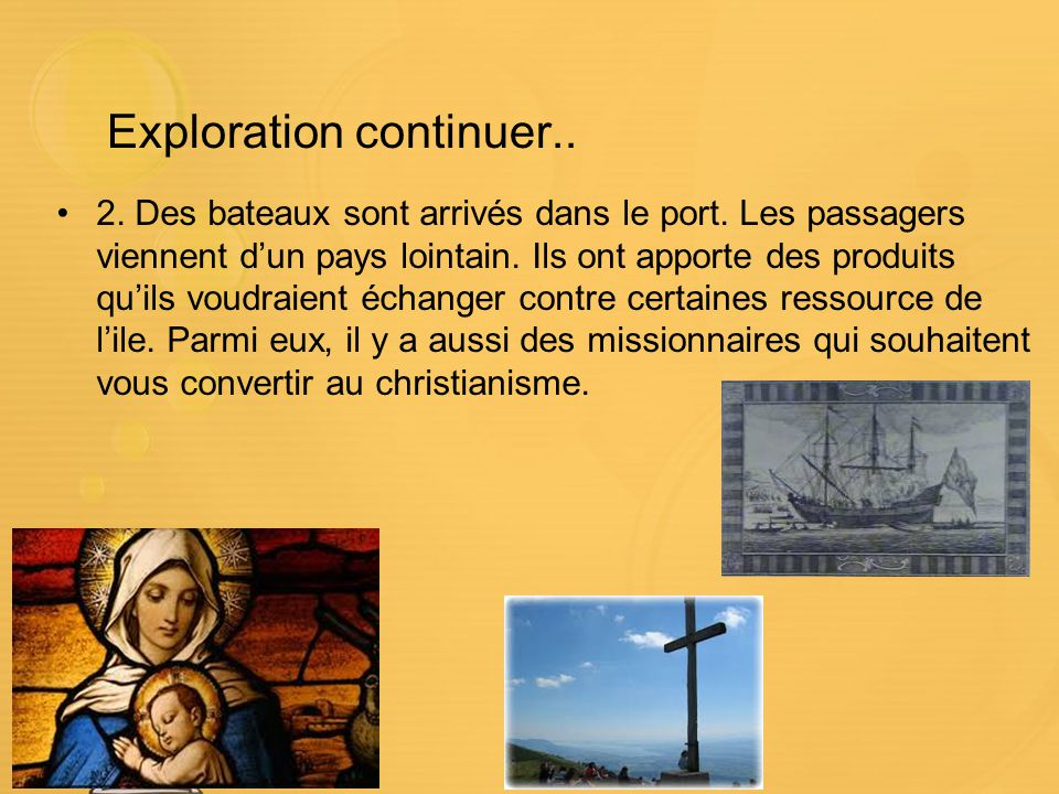 Exploration continuer..