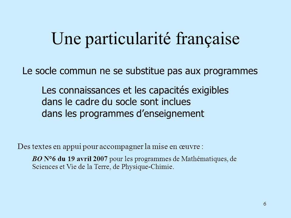 Une particularité française