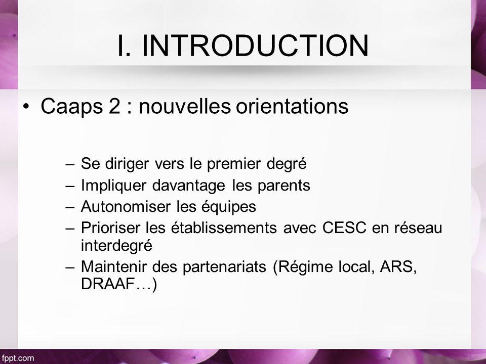 I. INTRODUCTION Caaps 2 : nouvelles orientations