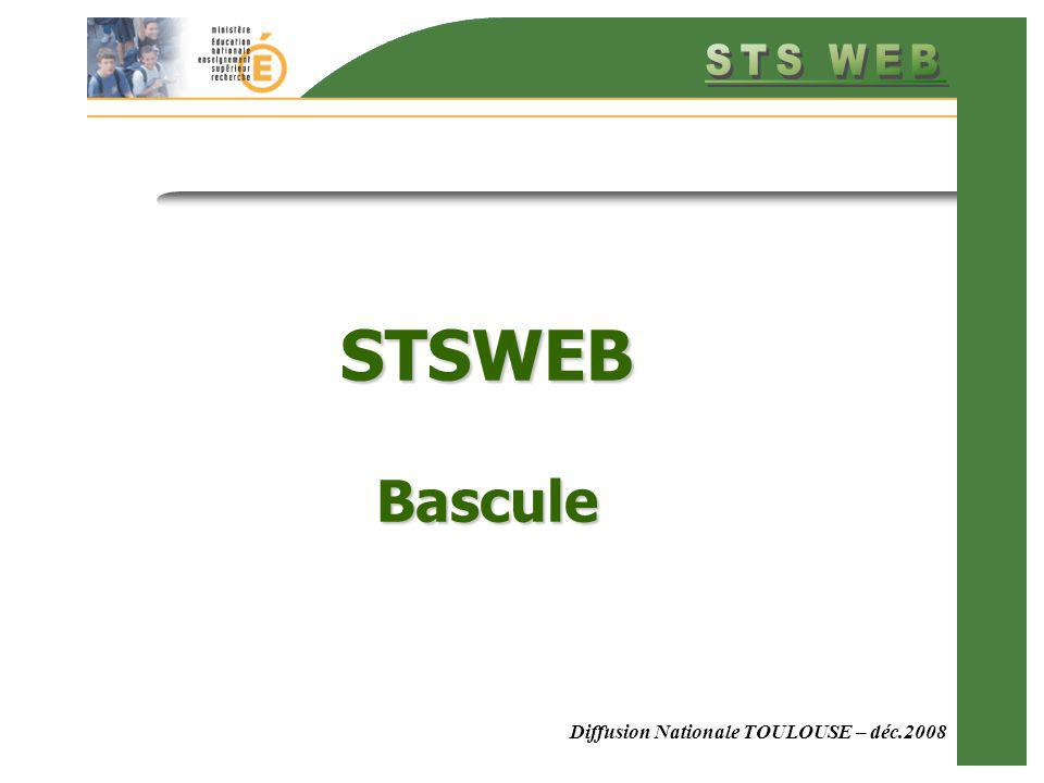 STSWEB Bascule Diffusion Nationale TOULOUSE – déc.2008