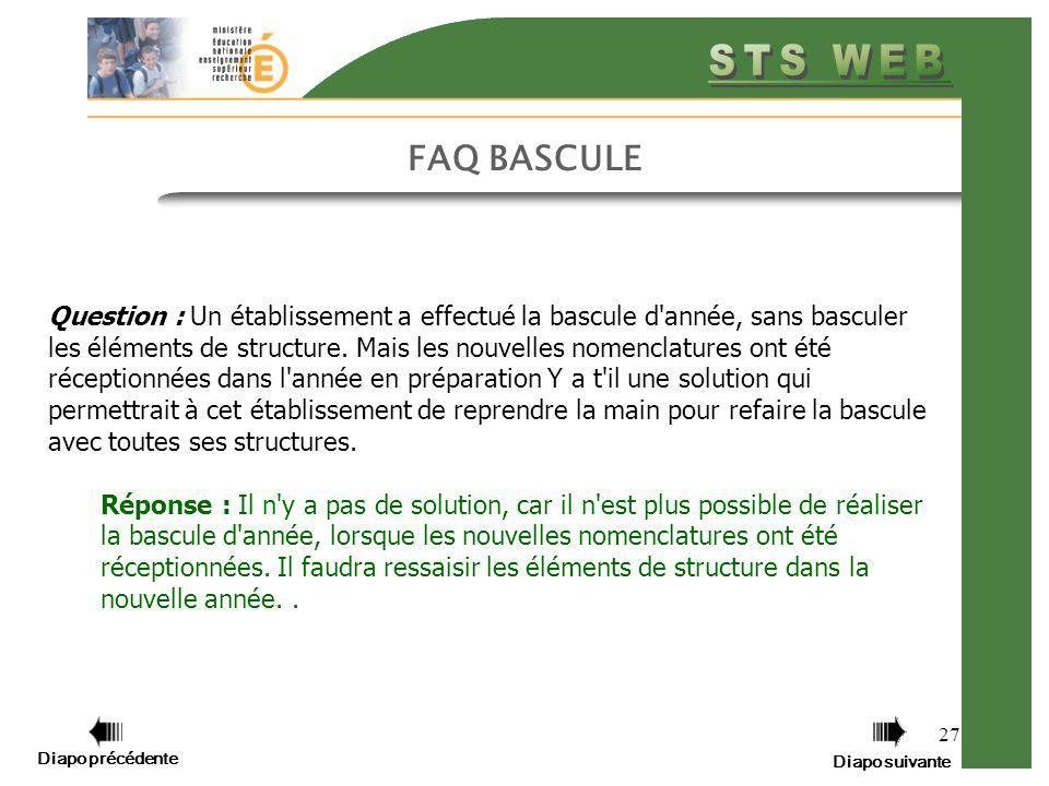 FAQ BASCULE
