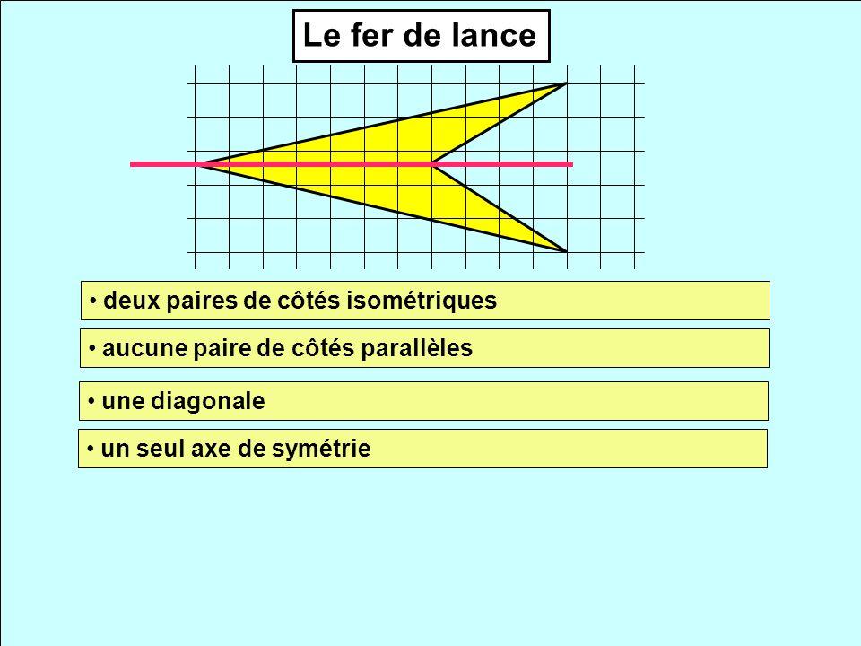 Le fer de lance deux paires de côtés isométriques
