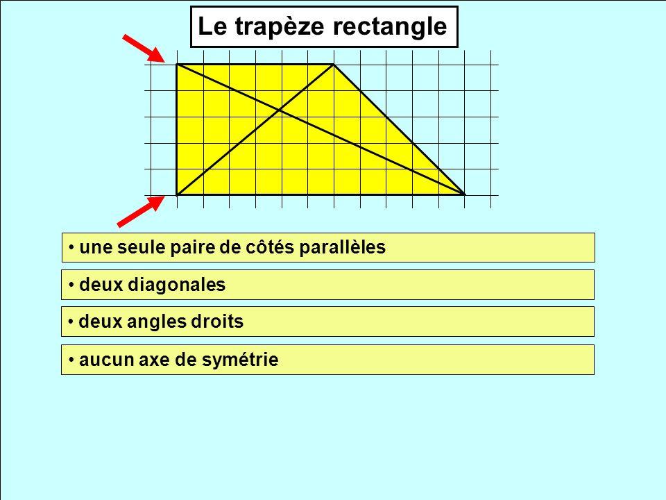 Le trapèze rectangle une seule paire de côtés parallèles