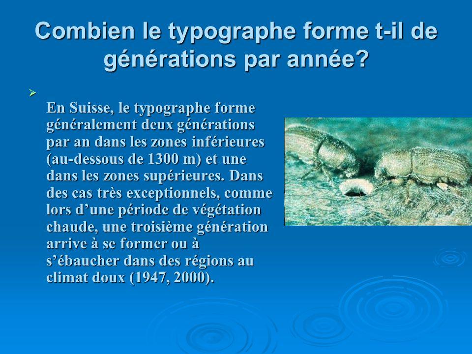 Combien le typographe forme t-il de générations par année