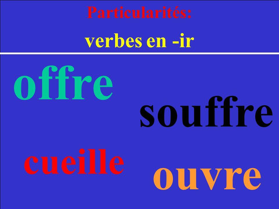 Particularités: verbes en -ir offre souffre cueille ouvre 2