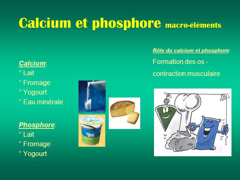 Calcium et phosphore macro-éléments