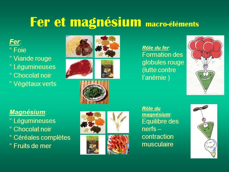 Fer et magnésium macro-éléments