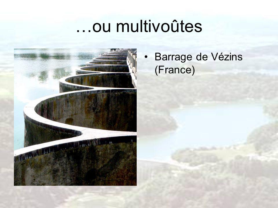 …ou multivoûtes Barrage de Vézins (France)