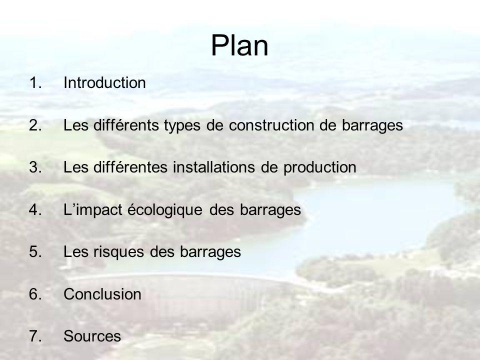 Plan Introduction Les différents types de construction de barrages