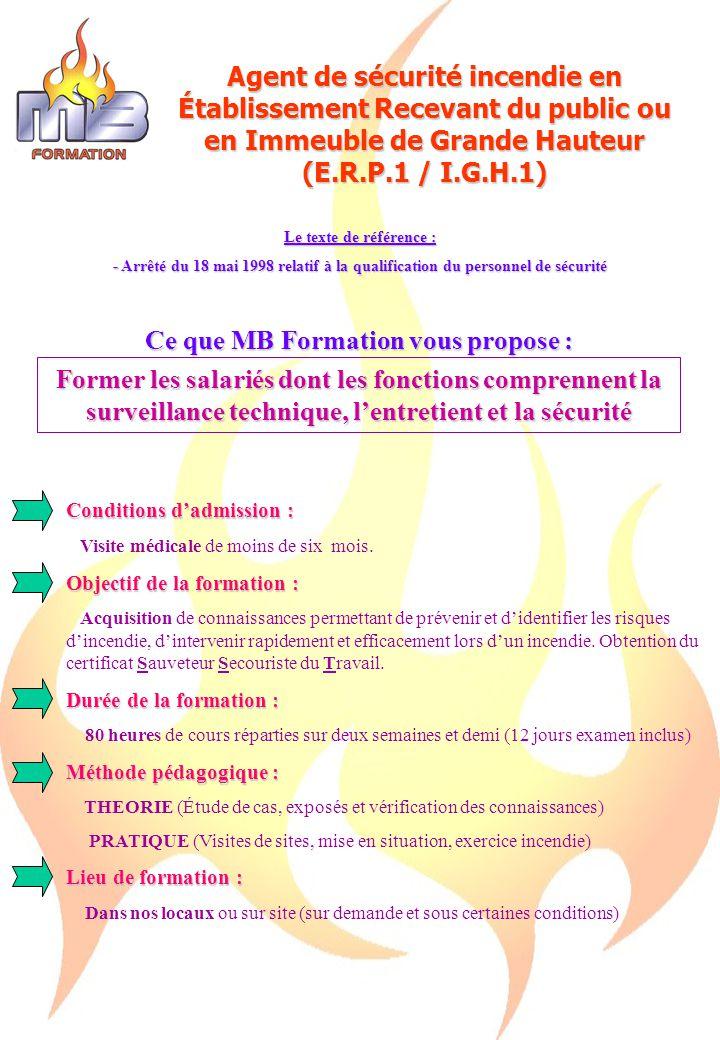 Ce que MB Formation vous propose :