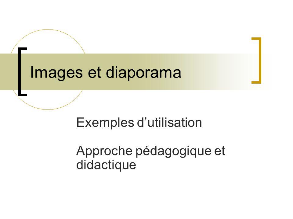 Exemples d'utilisation Approche pédagogique et didactique