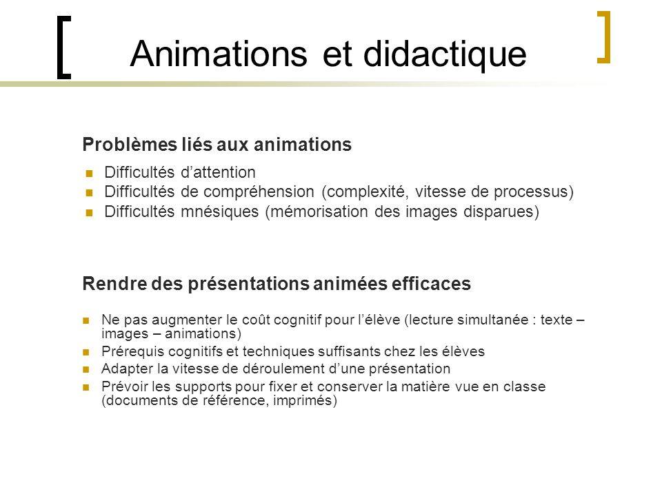 Animations et didactique