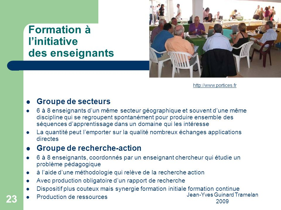 Formation à l'initiative des enseignants
