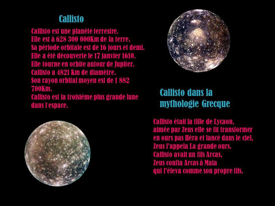 Callisto dans la mythologie Grecque