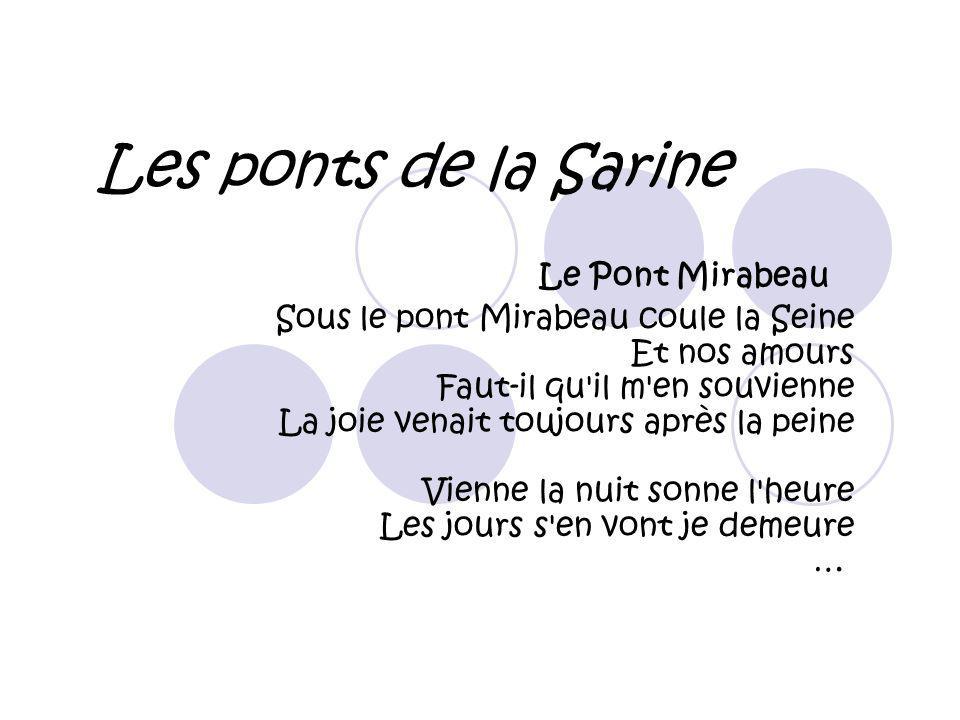 Les ponts de la Sarine Le Pont Mirabeau