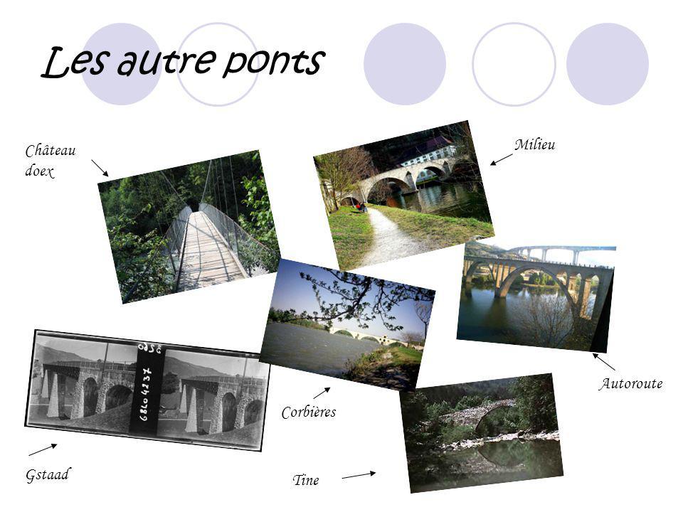Les autre ponts Milieu Château doex Autoroute Corbières Gstaad Tine