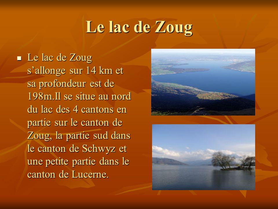Le lac de Zoug