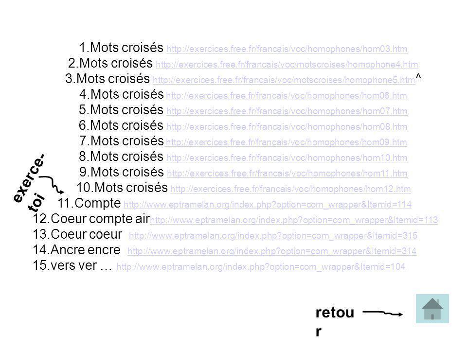 1. Mots croisés http://exercices. free