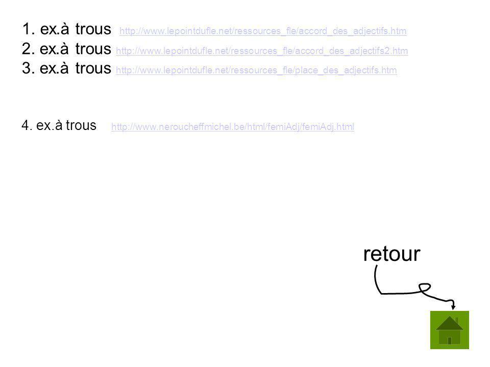 ex. à trous http://www. lepointdufle