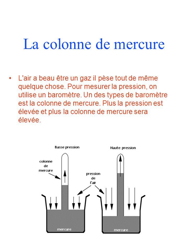La colonne de mercure