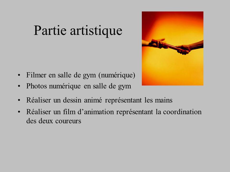 Partie artistique Filmer en salle de gym (numérique)