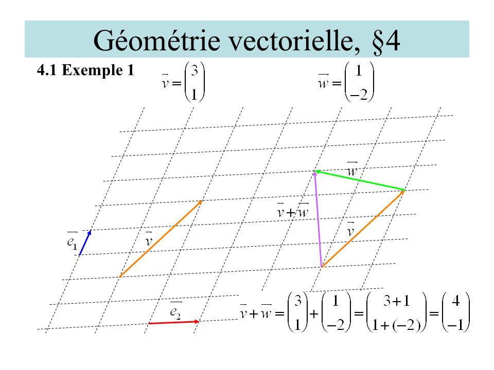 Géométrie vectorielle, §4