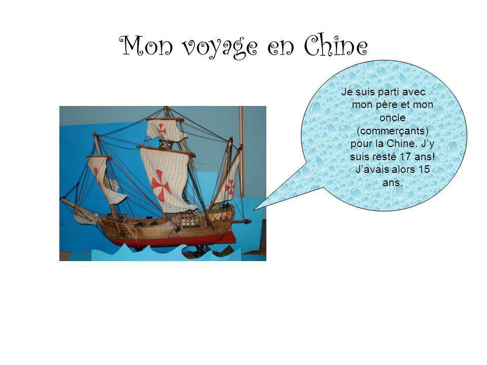 Mon voyage en Chine Je suis parti avec mon père et mon oncle (commerçants) pour la Chine.