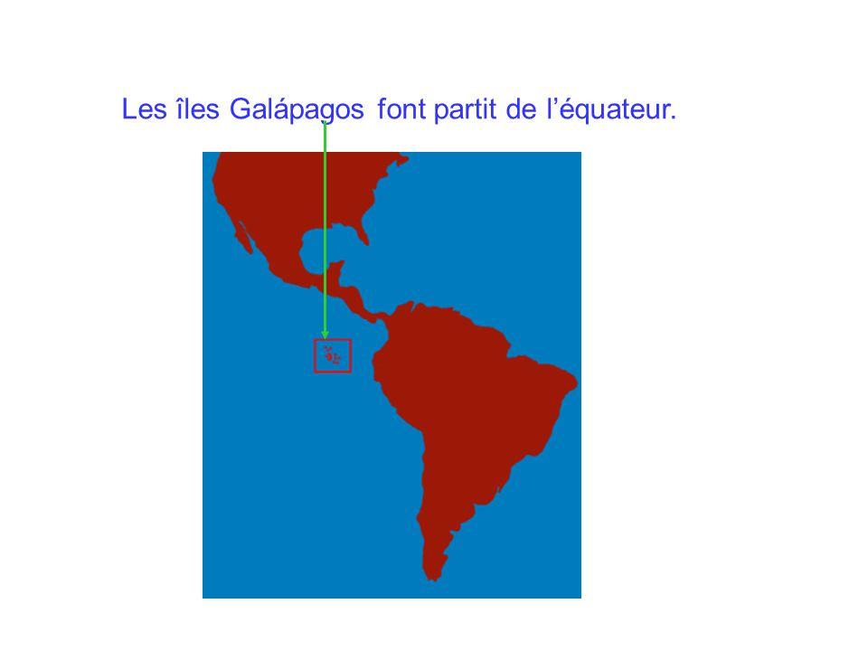 Les îles Galápagos font partit de l'équateur.