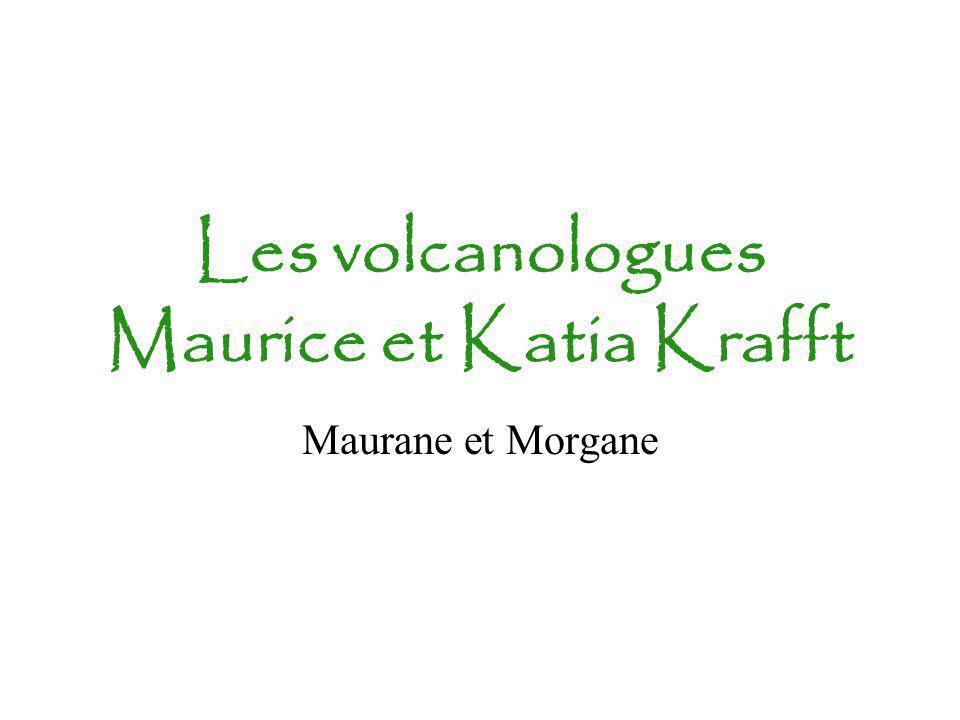 Les volcanologues Maurice et Katia Krafft