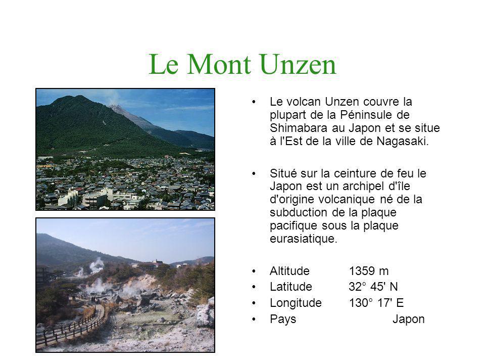 Le Mont Unzen Le volcan Unzen couvre la plupart de la Péninsule de Shimabara au Japon et se situe à l Est de la ville de Nagasaki.