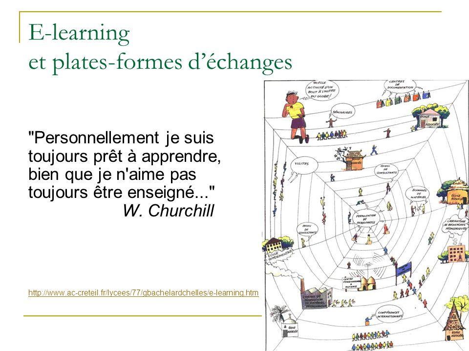 E-learning et plates-formes d'échanges