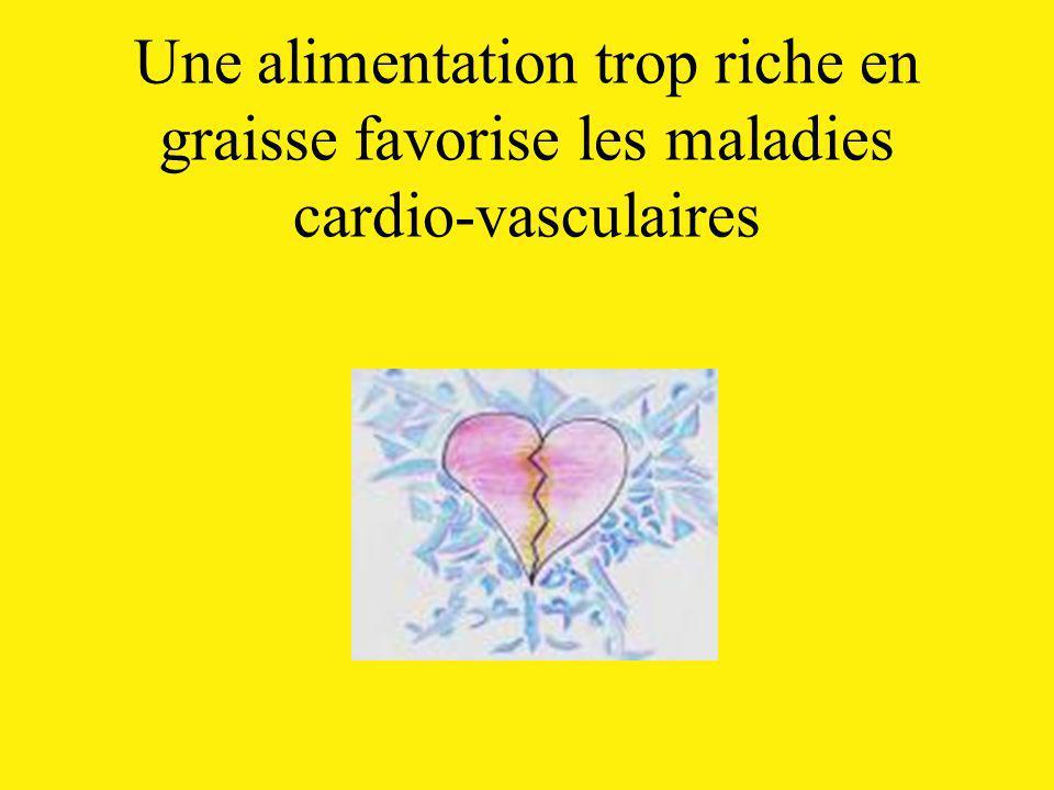 Une alimentation trop riche en graisse favorise les maladies cardio-vasculaires