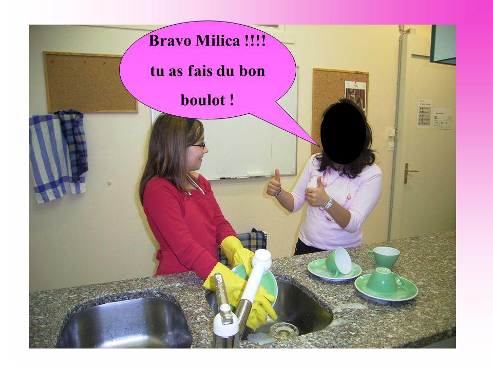 Bravo Milica !!!! tu as fais du bon boulot !