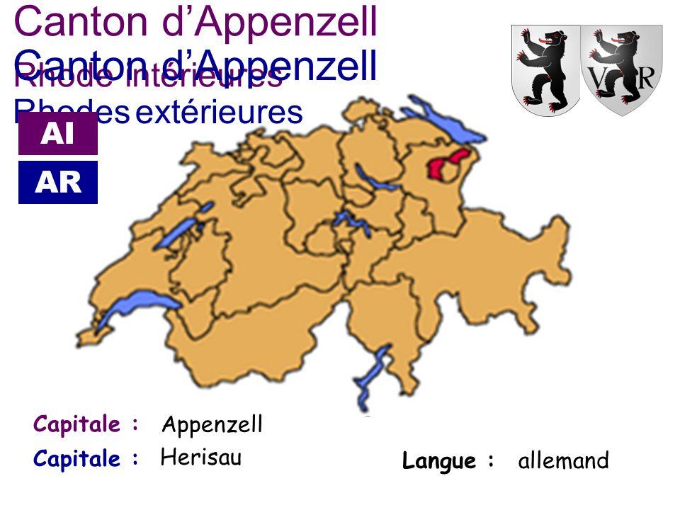 Canton d'Appenzell Rhode intérieures