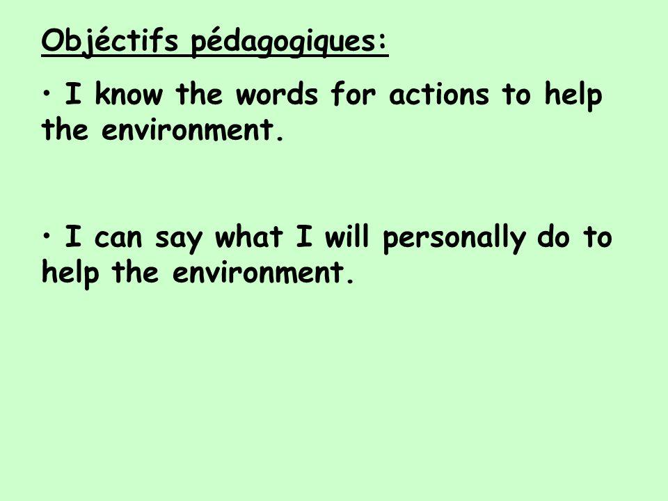 Objéctifs pédagogiques: