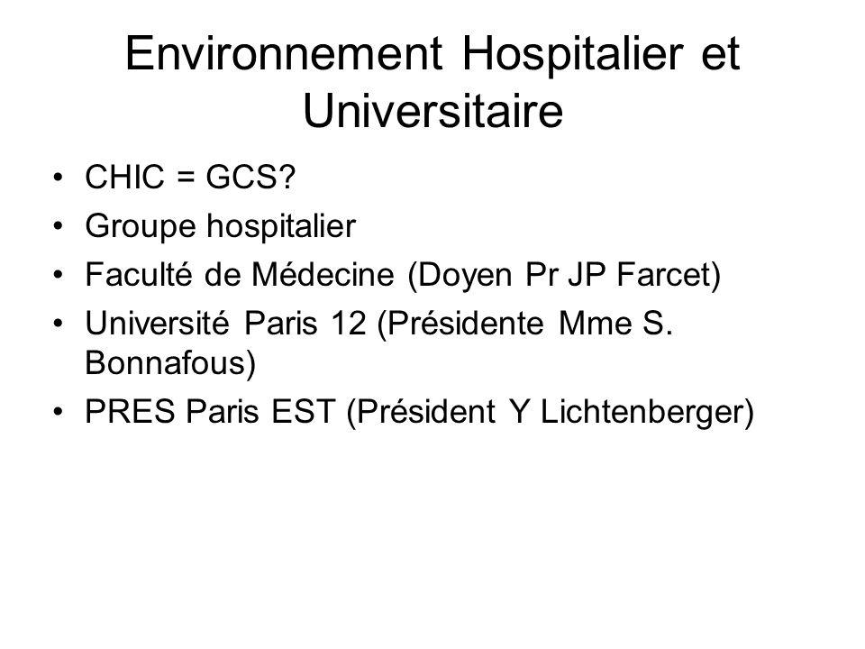 Environnement Hospitalier et Universitaire
