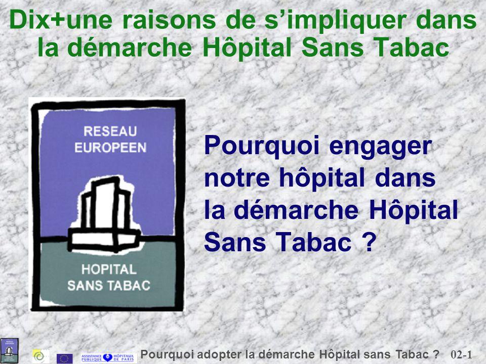 Dix+une raisons de s'impliquer dans la démarche Hôpital Sans Tabac