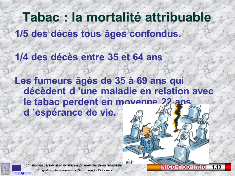 Tabac : la mortalité attribuable
